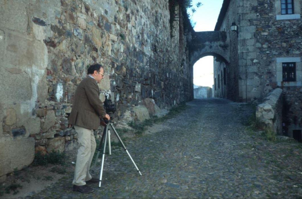 Enrico Isacco, lors de prises de vues du video-film Sefarad ô Sefarad